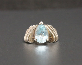 Topaz Sterling Ring Size 6.25 Signed CCC