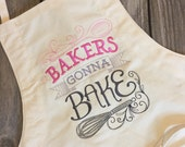 Bakers Gonna Bake Apron and Bow with Clip