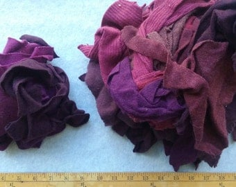 Cashmere Recycled Remnants - Mixed Dark Purples, Plumps to Light Purple for DIY Crafts and Projects - Choose Bundle Size