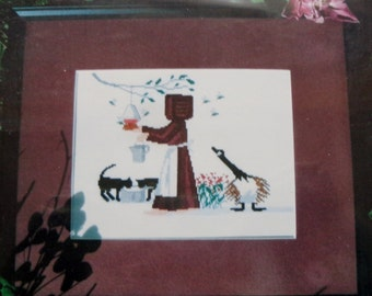 Amish Counted Cross Stitch Pattern HELPING THE HUMMERS Diane Graebner Artwork By Lynn's Prints