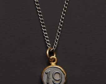 Necklaces for Men - Numerology - Number 19 Necklace - Personalized Men Jewelry - Mens Jewelry - Number Nineteen Pendant - men silver chain
