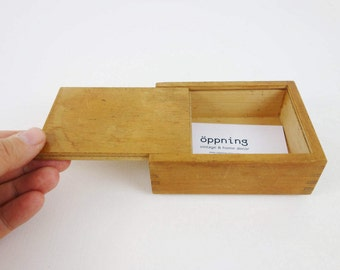 Vintage Wooden Box with Sliding Lid