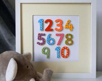 Wooden Patterned Numbers Nursery Art, Nursery Decor, Nursery Wall Art, Numbers Wall Art, Baby Room Wall Art, Baby Room Decoration, Numbers