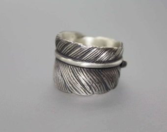 Feather Ring, Cremation Ring, Cremation Jewelry, Silver Cremation Jewelry, Memorial Ring, Memorial Jewelry, Bereavement Jewelry, Ash Ring