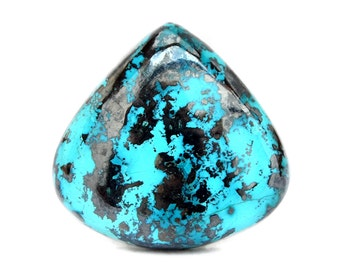 Azurite Cabochon Gemstone (26m x 27mm x 6mm) 47cts - Trillion Cabochon Stone