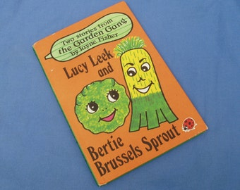 The Garden Gang Lucy Leek and Bertie Brussels Sprout - Vintage Ladybird Book Series 793 - Jayne Fisher - Matt Covers