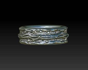 twig wedding ring twig wedding band branch ring branch wedding band silver twig ring silver branch band  YY2