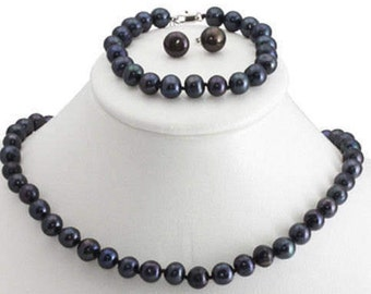 Genuine Black Pearl Set