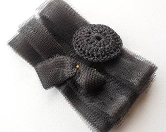 Dark Brown Nylon Netting Strips - Sets of 4 through 20 - DIY Dish Scrubbies - Precut Scrubber Supplies