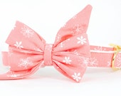 Crew LaLa™ Pink Snowflakes Belle Bow Dog Collar