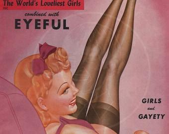Beauty Parade (Jan 44) - 10x14 Giclée Canvas Print of a Vintage Magazine Cover