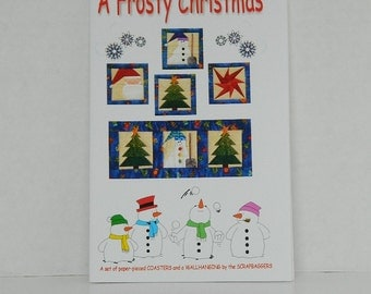 A Frosty Christmas, Paper Pieced Quilt Pattern, Quilting Destash, Christmas Ornament Pattern, Christmas and Holiday Quilt Designs, Crafting