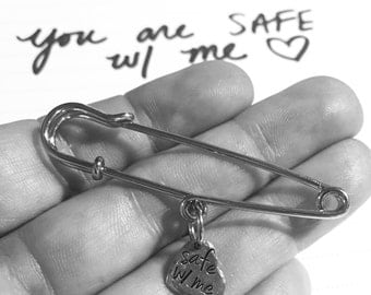 Safety Pin Solidarity Brooch Pin Movement Jewelry 20% ACLU Donation Safe With Me