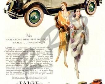 Instant Download Printable Art, Paige, Classic Car, Wall Art Decor, Digital Download