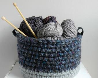 Medium-Lg Crochet Bowl / Basket / Storage /