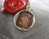 Mother's Love Wax Seal Pendant - antique wax seal jewelry charm Pelican In Piety Motherhood Latin motto by RQP Studio