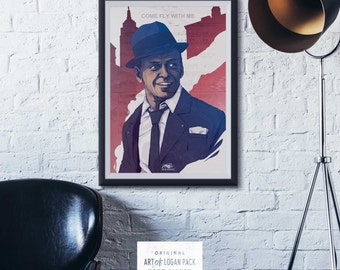 OL' BLUE EYES - Custom Song - Frank Sinatra - Custom Sheet Music - New York - Classic Film / Concert - Original Art Print / Poster