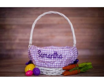 Personalized Easter Basket Liner - Personalized Basket Liner For Easter - Easter Baskets