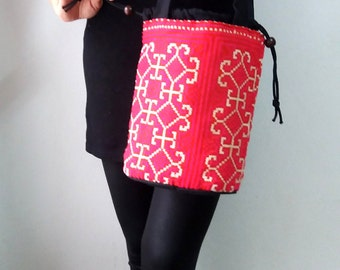 Vintage Hmong Embroidered Boho Small Bag
