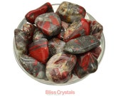 Stunning! 1 Jumbo African BLOODSTONE Tumbled Stone Jasper Crystal Healing and Stone Red Quartz #AB01