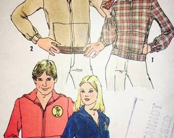 Simplicity  7207 Vintage Hooded Sweatshirt 1975