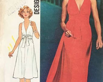 Simplicity 7712 Misses' Dress in Two Lengths 1976