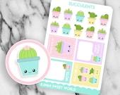 Kawaii Succulents | Planner Sticker Sheet