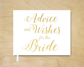 Gold Foil Advice and Wishes Guest Book, Bridal Shower Guest Book, Advice Shower Guestbook, Landscape Guest Book, Silver Foil Guest Book