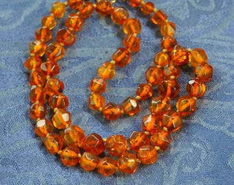 Beautiful Amber Beads Necklace Like Glowing Drops of Honey