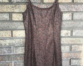Vintage 90s Glitter Print Dress