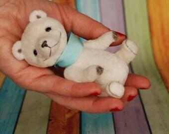 Miniature teddy small white bear Anri