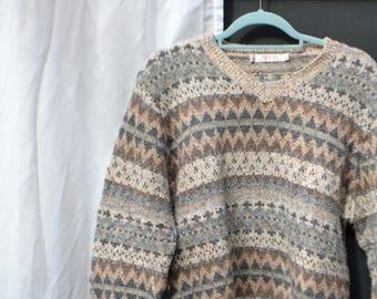 Esprit vintage wool multicolor pull 90's