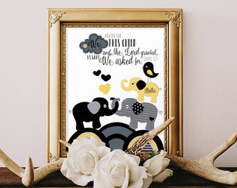 BABY DEDICATION GIFTS, godparent gift, boy baptism gifts, Scripture art prints, Bible verse for child, modern typographic, Black White 8x10
