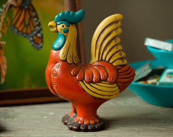 Vintage Colorful Rooster Statuette Figurine - NORLEANS