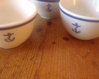 3 US Navy WWII Fouled Anchor single CUP, priced on the each, Dinner Coffee or Tea Cup, Shenango, Tepco, Homer Laughlin