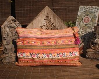 Vintage Hmong Textile Cushion Cover