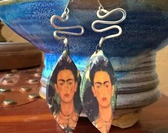 Frida - Handmade ceramic and sterling silver earrings