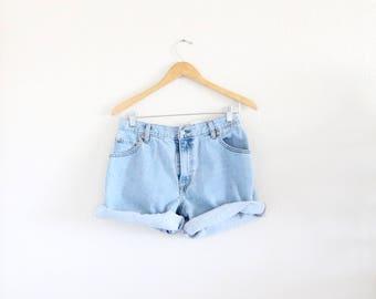 high waist levi's 550 jean shorts - 12