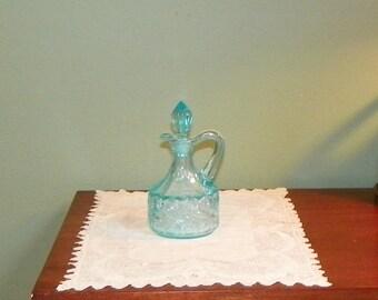 Antique Elegant CRUET Holder Northwood Glass Works S Repeat Pattern art glass EAPG
