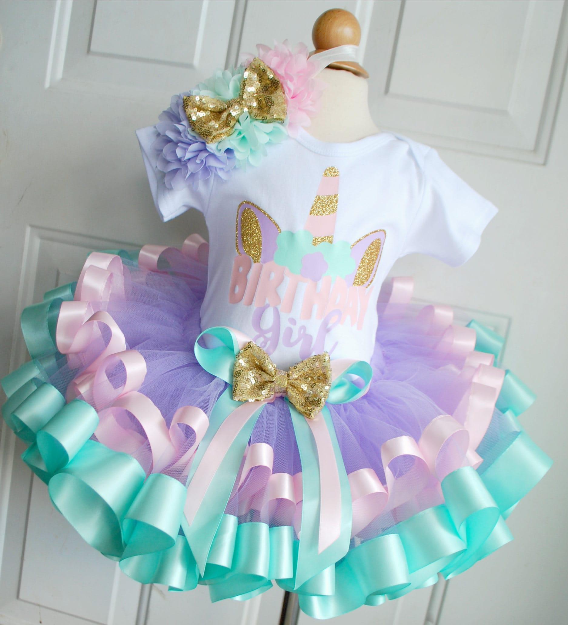 Unicorn birthday tutu outfit unicorn birthday set unicorn for Decoracion para pared de unicornio