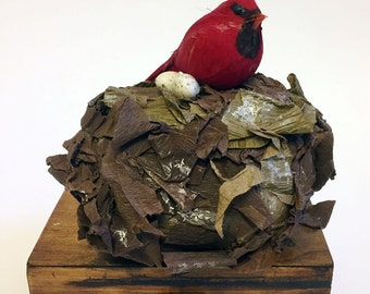 Winter Cardinal Birds Nest Surprise Ball - Female ages 10 and up
