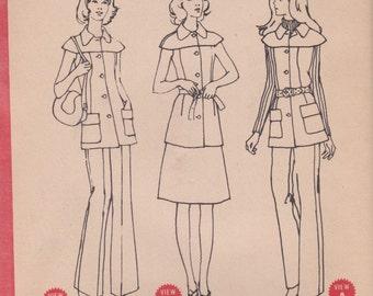 70s Top, Skirt & Pants Pattern McCalls 3169 Size 16 Uncut