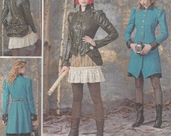 Steampunk Costume Pattern Simplicity 1299 Size 14-22 UNCUT