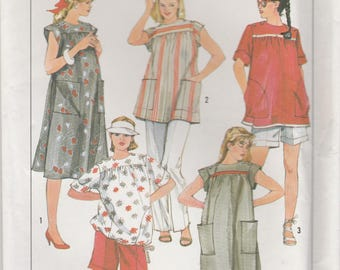 Summer Maternity Top or Dress Pattern Simplicity 6857 Size 14 Uncut