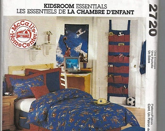 Kidsroom Essentials / Original McCall's Home Decorating Uncut Sewing Pattern 2720
