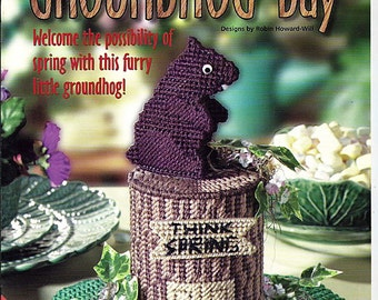 Groundhog Day Plastic Canvas Pattern  Book House of White Birches 186009