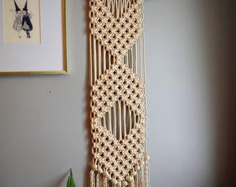 Chevron Macrame Wall Hanging/Tapestry/Fiber Art/Modern Macrame