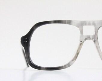 Vintage Charcoal Aviator Eyeglass Frames