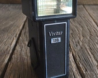 ON SALE - Vintage Vivitar Camera Flash - Vivitar 118 Camera Flash - Vivitar Camera Flash Accessory