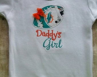 Miami Dolphins Daddy's Girl Shirt or bodysuit